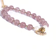 Load image into Gallery viewer, Strawberry Quartz Healing Charm Bracelet - Inner Manifestation