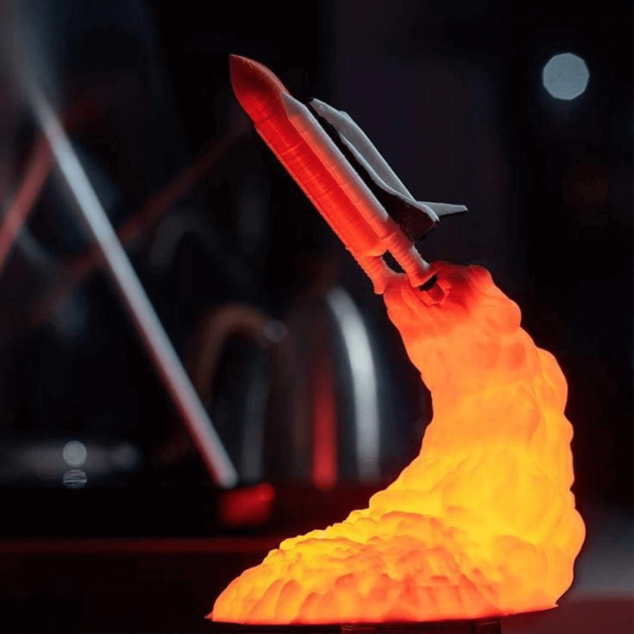 3D Print Space Shuttle Rocket Night Light