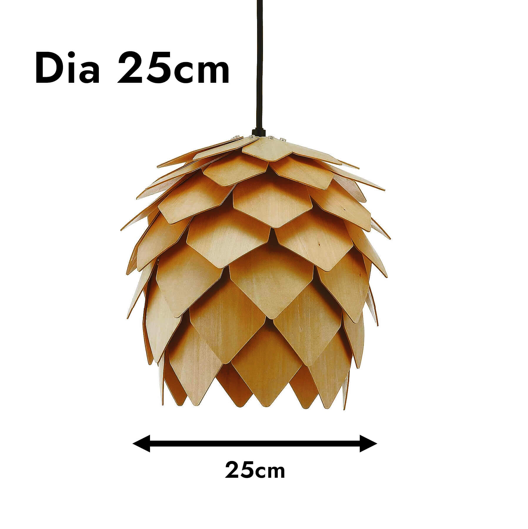 Pinecones Wooden Pendant Light (Type A)