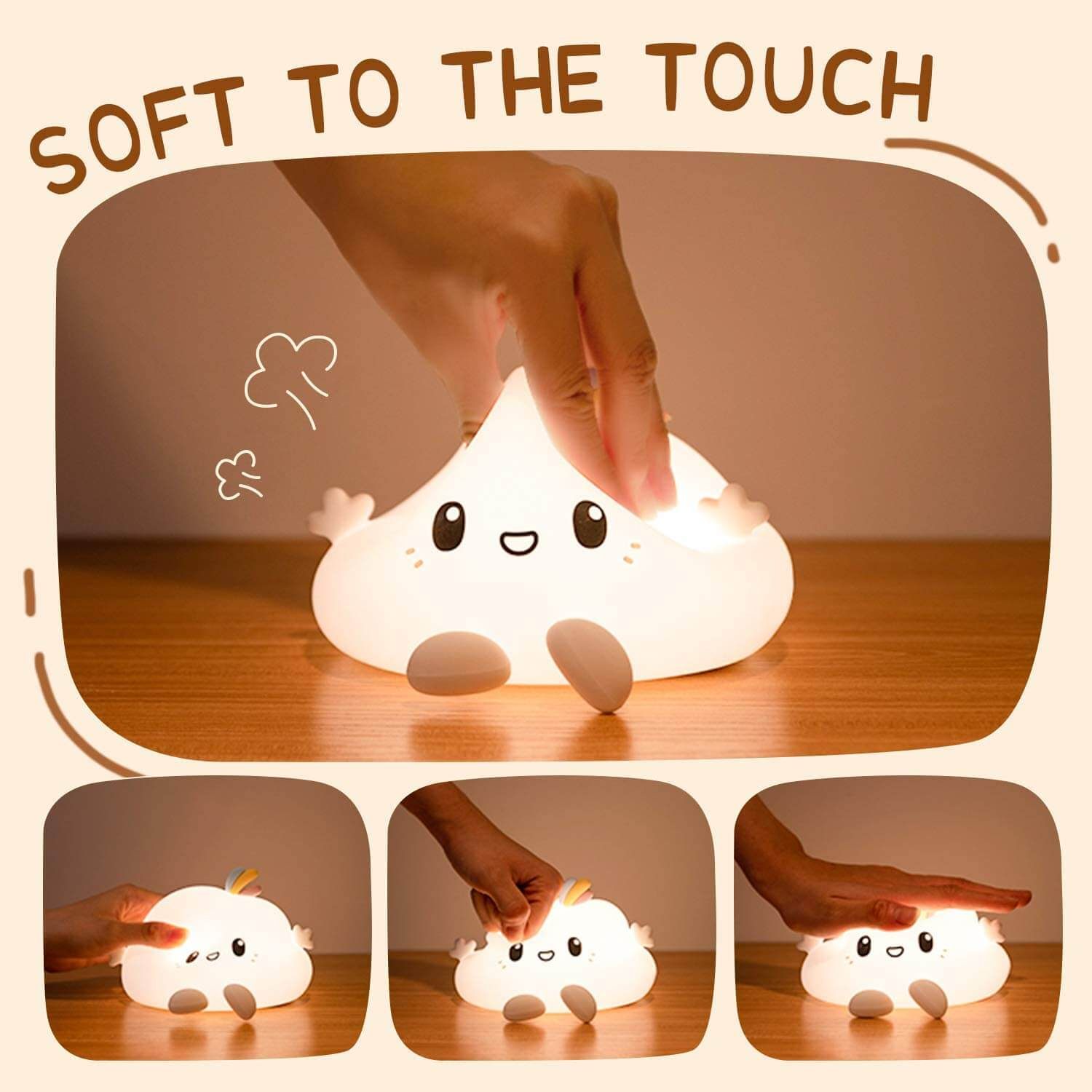 Silicone Cloud LED Night Light
