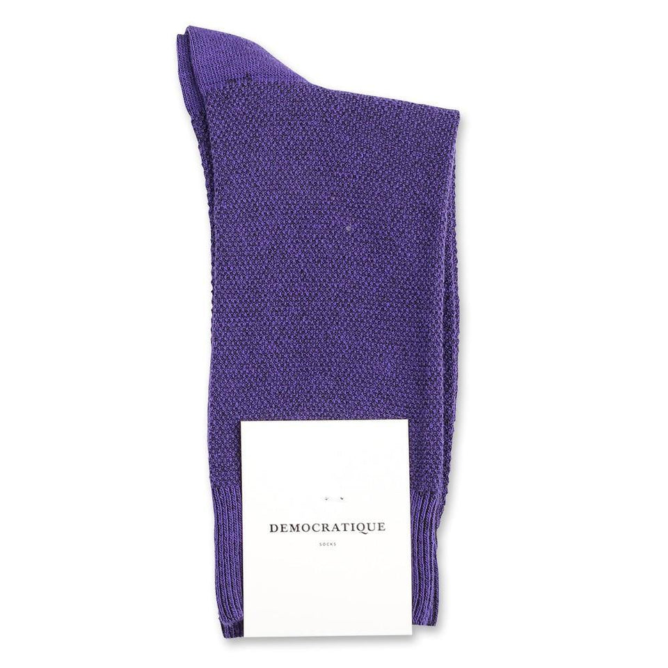Democratique Socks Originals Champagne Pique Purple Rain - Democratique Socks