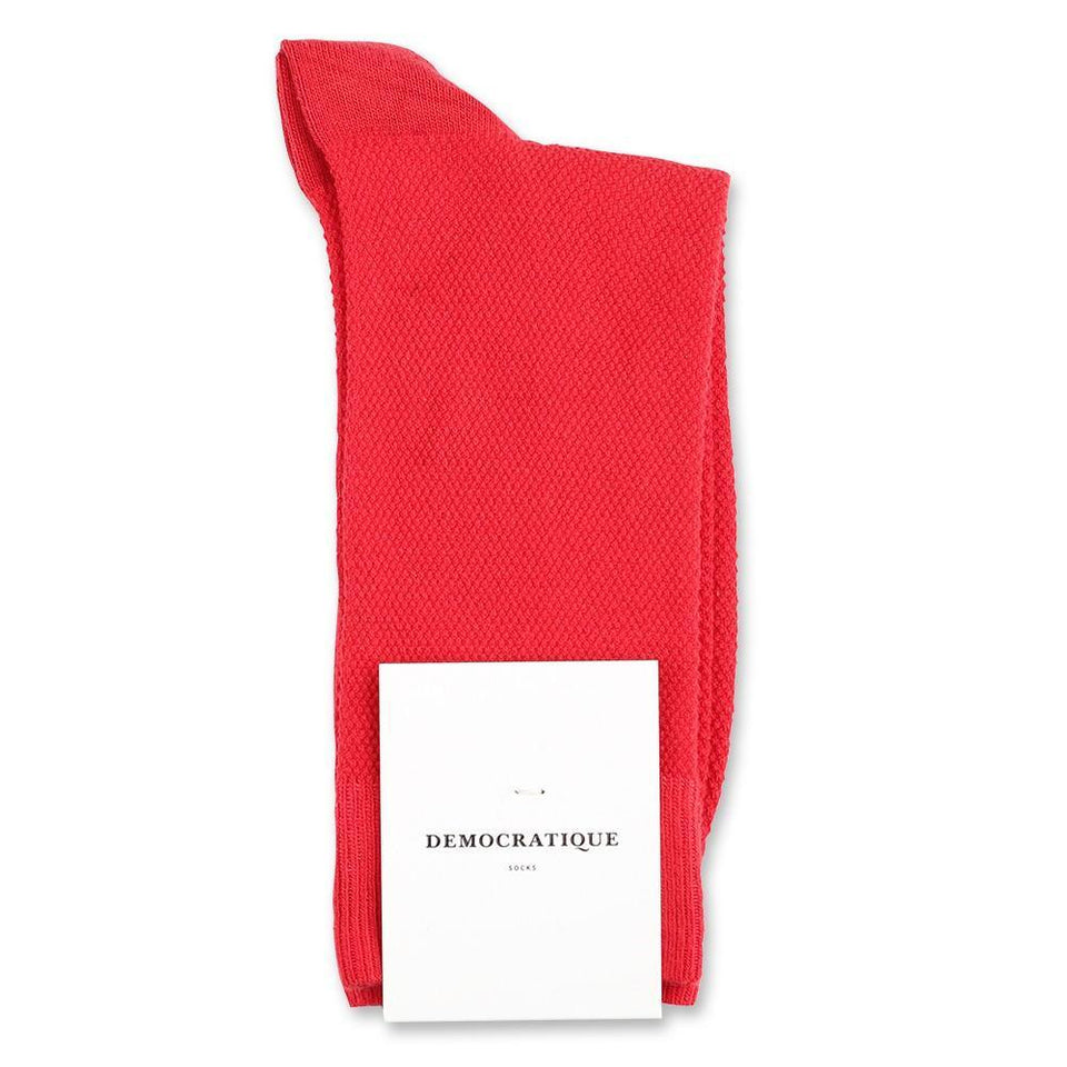 Democratique Socks Originals Champagne Pique Rosehips - Democratique Socks
