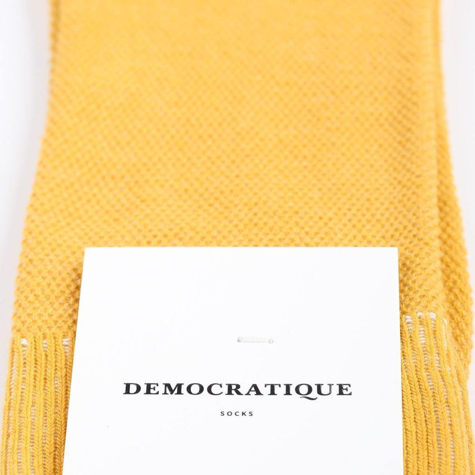 Democratique Socks Originals Champagne Pique Hot Curry - Democratique Socks
