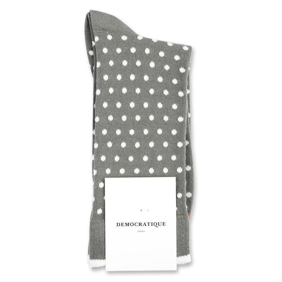 Democratique Socks Originals Polkadot Army - Off White - Dusty Orange - Democratique Socks
