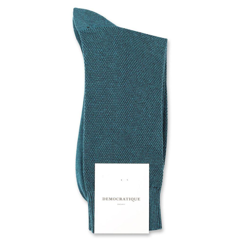 Democratique Socks Originals Champagne Pique Organic Cotton Benzin - Democratique Socks