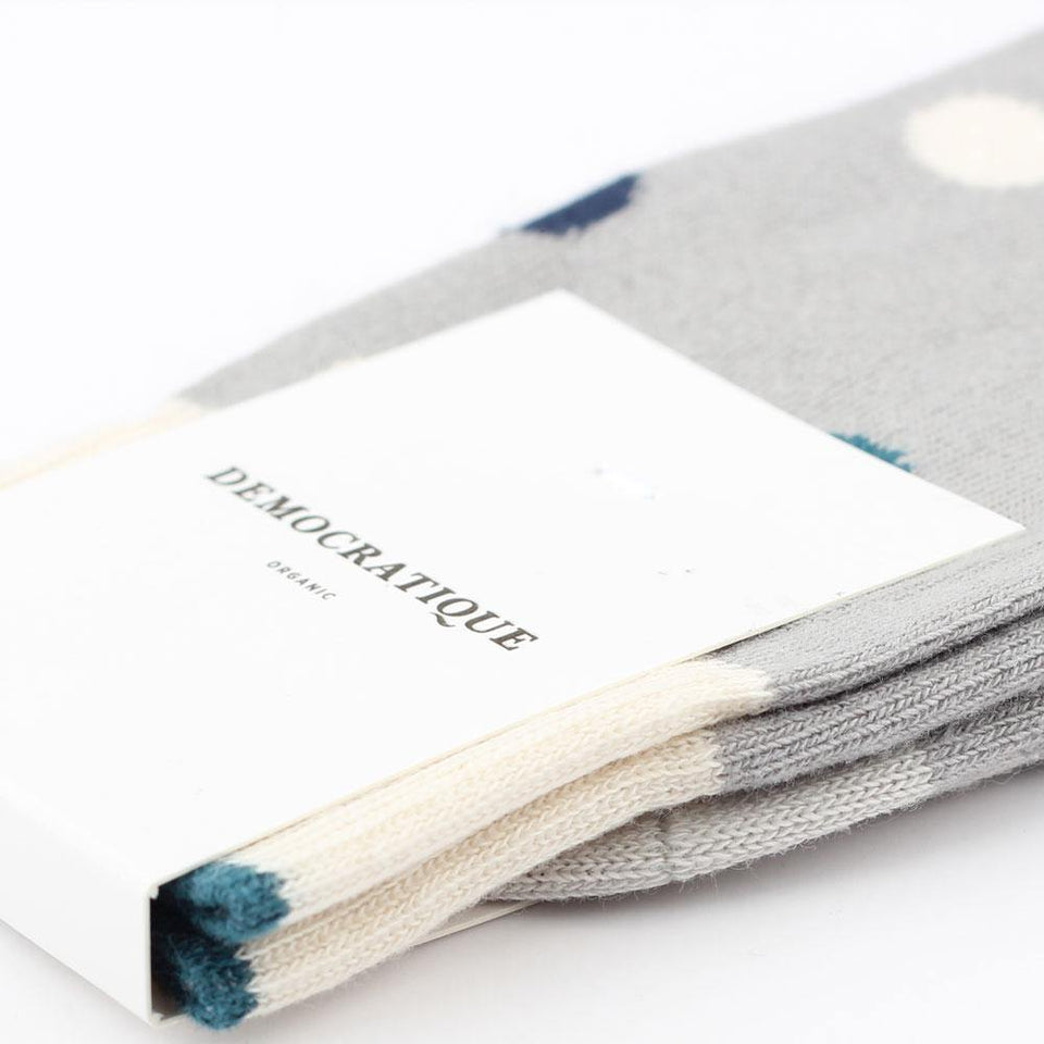 Democratique Socks Originals DotCom Organic Cotton Stone / Benzin / Off White / Soft Grey / Navy - Democratique Socks