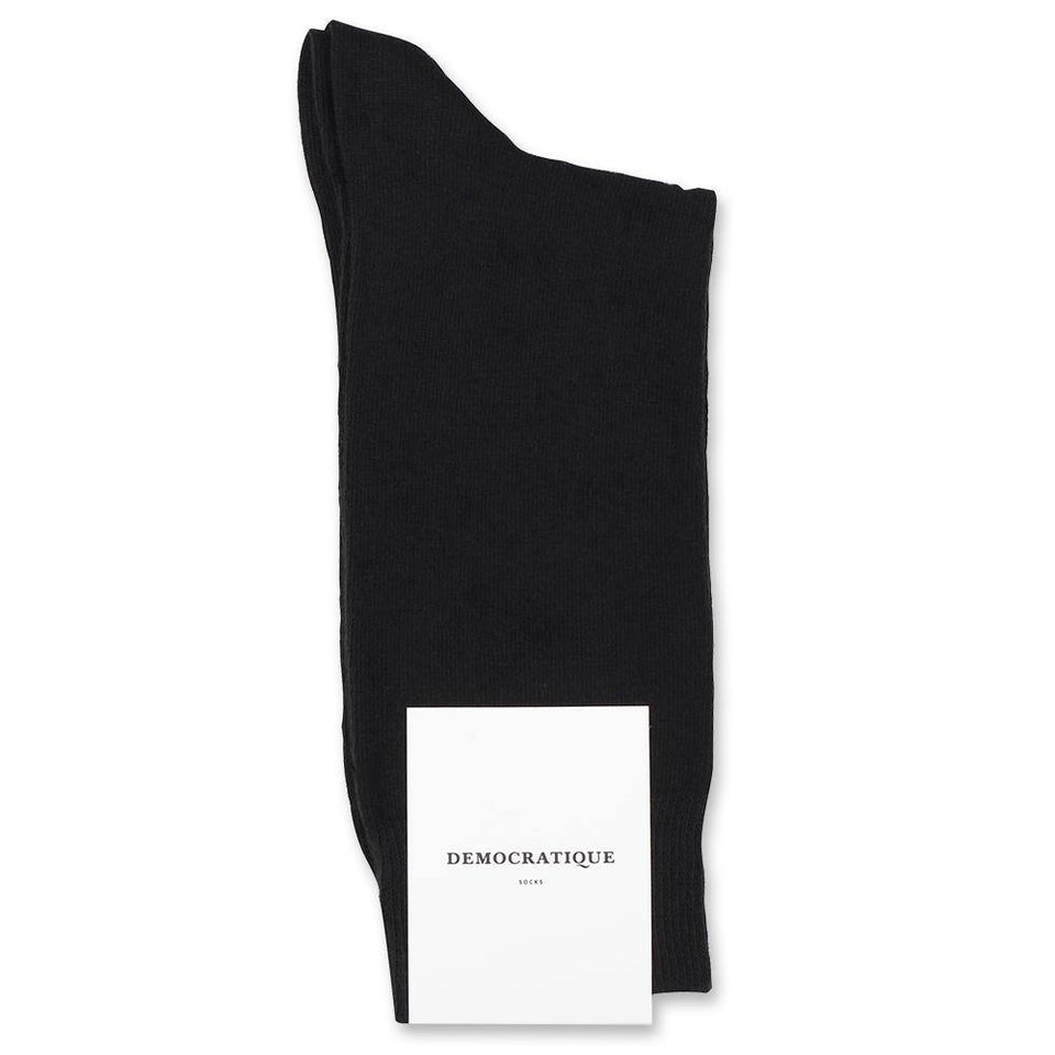 Democratique Socks -Black Organic cotton- Premium Quality