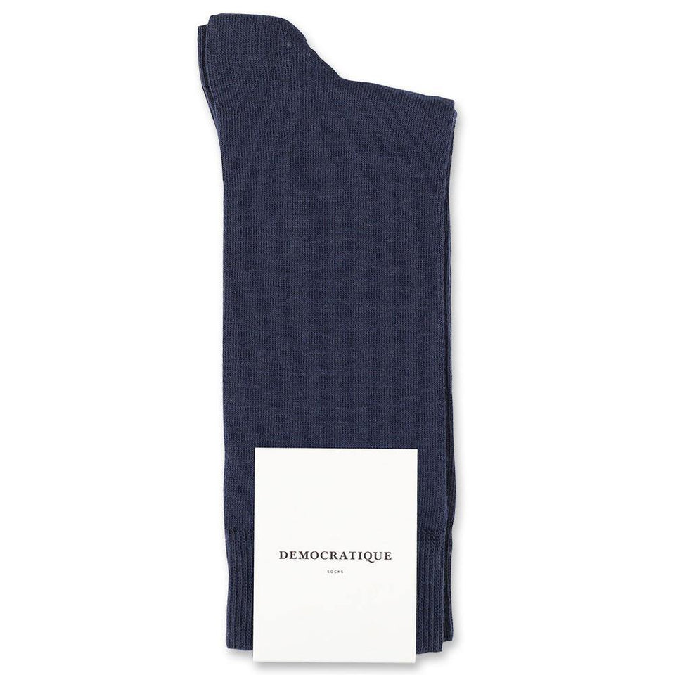 Democratique Socks Originals Solid Navy Blue - Democratique Socks