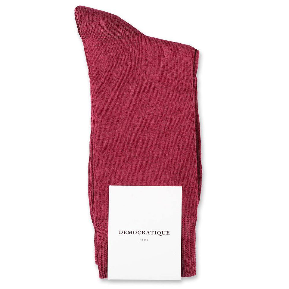 12 PAIRS (PAY FOR 10) OF RED WINE DEMOCRATIQUE SOCKS - Democratique Socks