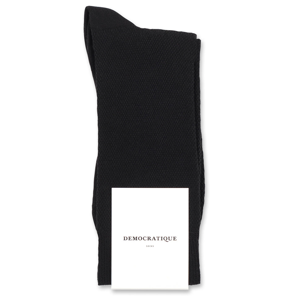 12 pairs (pay for 10) of black Champagne Pique Democratique Socks