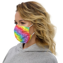 Load image into Gallery viewer, Premium face mask - LTV #LiveTheVibe Rainbow Tie Dye Design