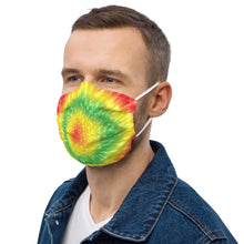 Load image into Gallery viewer, Premium face mask - LTV #LiveTheVibe Rasta Tie Dye Design