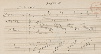 """A real transcription of the original copy of The Aquarium movement from """"The Carnival Of The Animals"""" by Camille Saint-Saens"""
