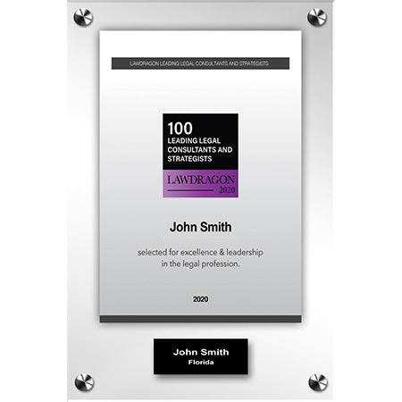 2020 Legal Consultant and Strategist Acrylic Recognition Plaque