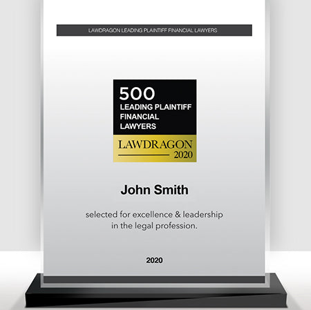 2020 Leading Plaintiff Financial Recognition Marquee