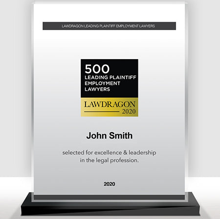 2020 Leading Plaintiff Employment Recognition Marquee