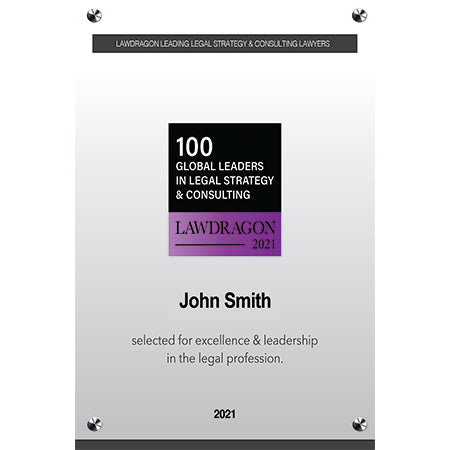 2021 Leaders in Legal Strategy & Consulting Acrylic Plaque