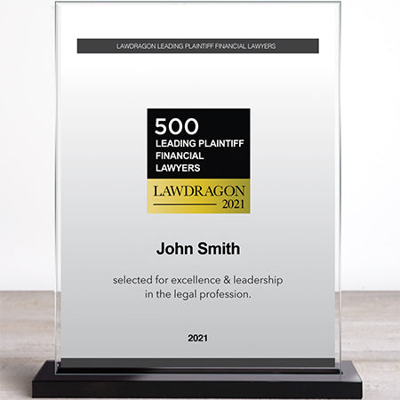 2021 Leading Plaintiff Financial Recognition Marquee