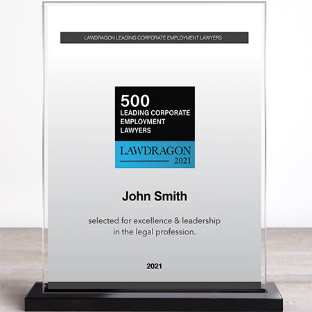 2021 Leading Corporate Employment Recognition Marquee