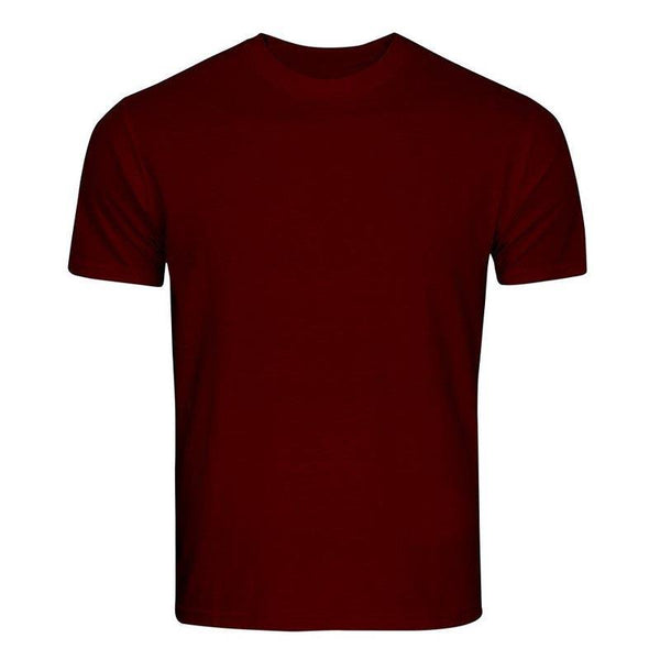 Cotton T-Shirt for Men - Maroon
