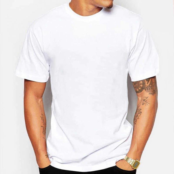 Cotton T-Shirt for Men - White