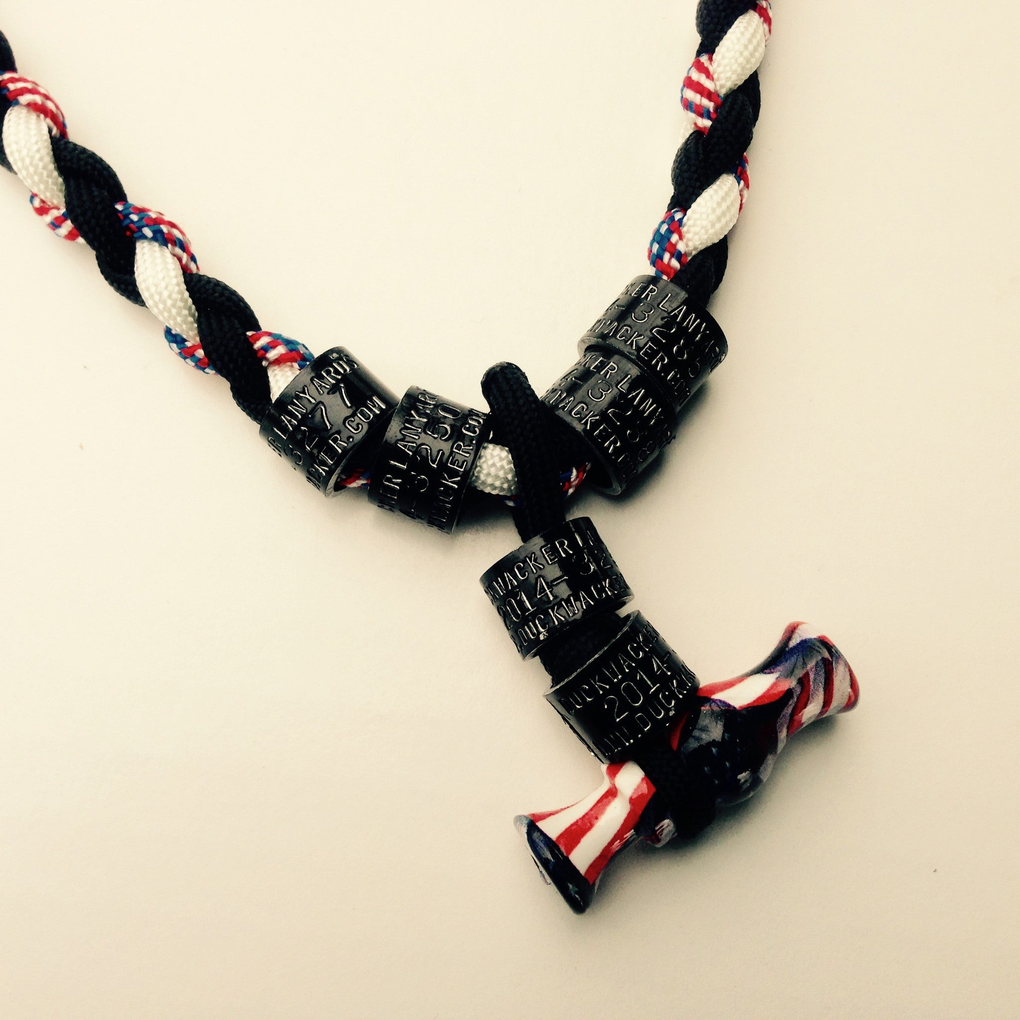 duckwacker mini duck call necklace evil black white and