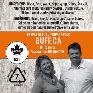 BUFF Snack Sticks - Original Flavor Twin Pack - Healthy Bison Meat Snack Sticks - BUFF