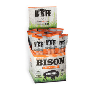 BUFF Twin Packs - Healthy Bison Meat Snack Sticks - BUFF