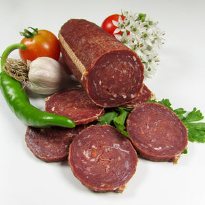 Fermented and Cold Smoked Salami - Healthy Bison Meat Snack Sticks - BUFF