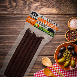 BUFF Snack Sticks - Healthy Bison Meat Snack Sticks - BUFF