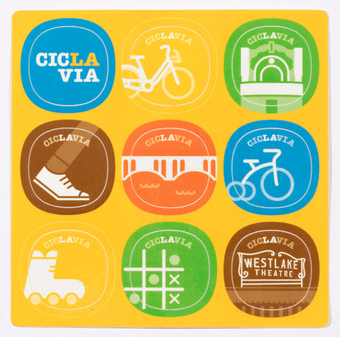CicLAvia Sticker Sheet