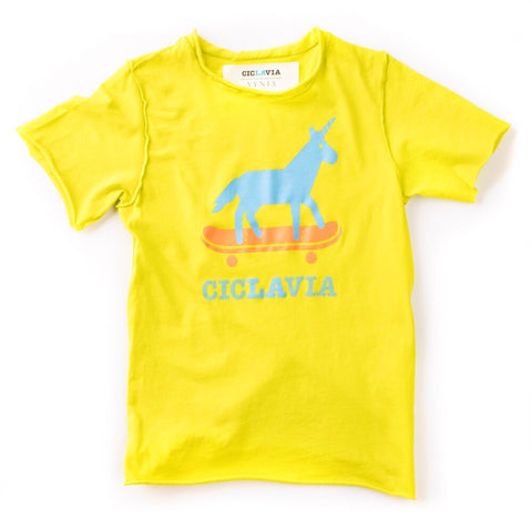 CicLAvia Unicorn on a Skateboard Kids T-Shirt