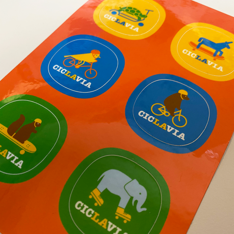 CicLAvia Animal Sticker Sheet
