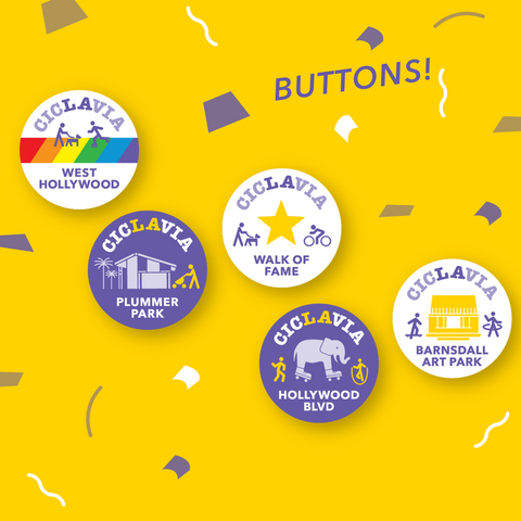 CicLAvia Meet the Hollywoods 2019 Button Pack