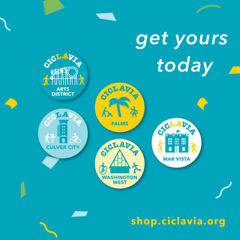 CicLAvia Culver City Meets Mar Vista + Palms Button Pack