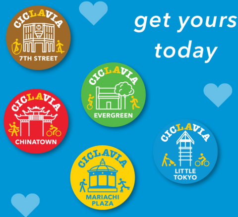 CicLAvia Heart of Los Angeles Button Pack