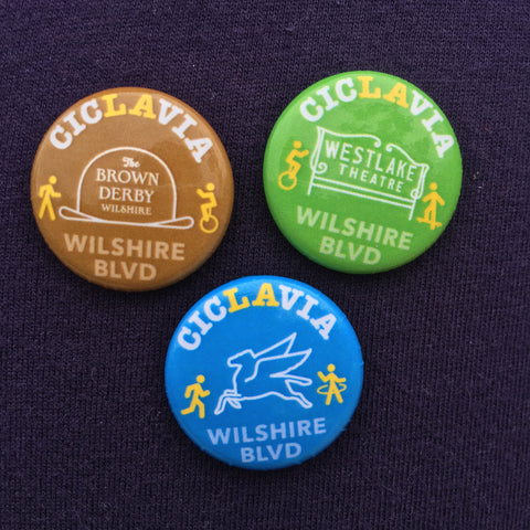 CicLAvia Iconic Wilshire Blvd Button Pack