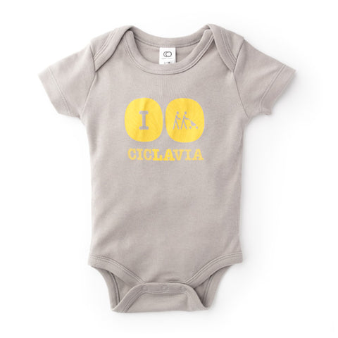 CicLAvia Organic Classic Baby Bodysuit - Storm