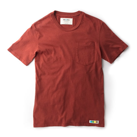 CicLAvia Pocket Tee - Rust