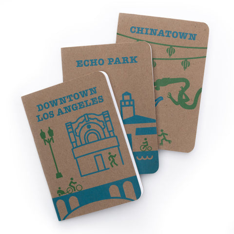 CicLAvia Heart of LA - Set of 3 Notebooks
