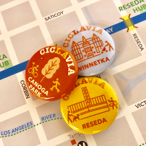 CicLAvia The Valley Button Pack: Canoga Park, Winnetka & Reseda