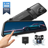 Mirror Dash Cam 2K 12'' Touch Screen