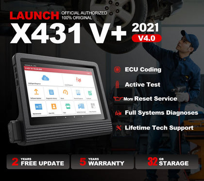 "Launch X431 V Plus V+ 10"" Full System Diagnostic Tool"