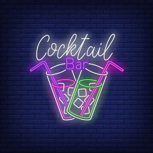 cocktail bar neon