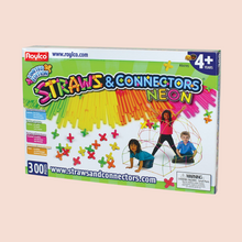 Load image into Gallery viewer, Neon Straws & Connectors Set - 300 pieces