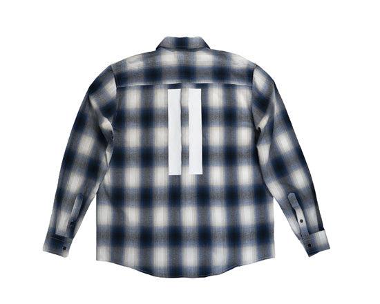 "D/HILL Blue&White ""HILLS LOVER AMBIGRAM"" Shadowcheck Shirt"