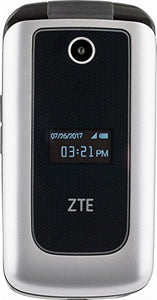 "ZTE Cymbal 4G LTE speed ""Verizon Prepaid"" Cell Phone - Silver"