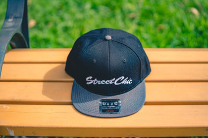 Flat visor cap Leaves Black / Charcoal - StreetChic