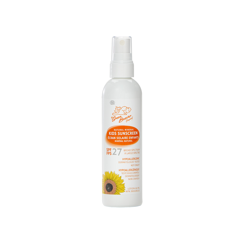 Mineral Sunscreen For KIDS - SPF 27 Spray