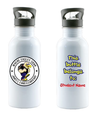 Evans Elementary Custom Water Bottle